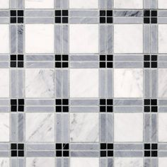 Bianco Carrara Tartan Marble Mosaic - 12 x 12 - 100463389 | Floor and Decor