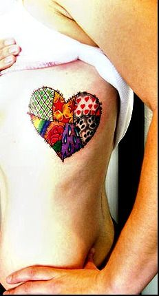 tattoo idea, patch work, color, patchwork heart, heart quilts, a tattoo, patch heart, tattoo ink, heart tattoos