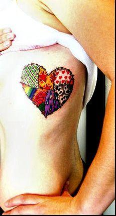 Patchwork Heart Tattoo
