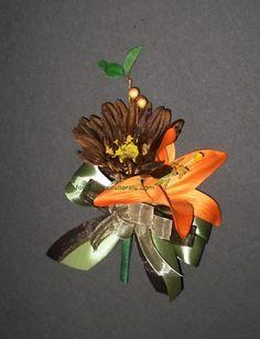 Orange Mossy Oak Corsages, Silk Camo Wedding- except realtree