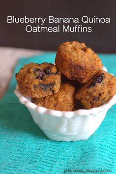 Grain Crazy: Blueberry Banana Quinoa Oatmeal Muffins (gluten free)