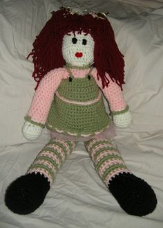 """""""crocheted amigurumi doll"""" #Amigurumi  #crochet"""