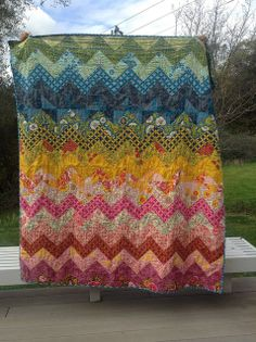 craft, color scheme, zigzag quilt