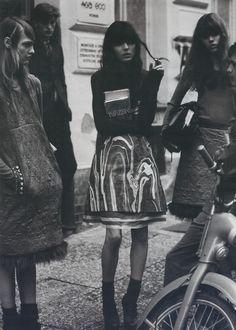 Sasha, Irina and Freja in 'Czechmate'  by Michael Thompson for W Magazine