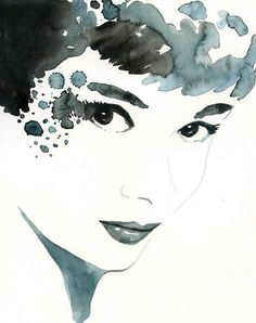 AUDREY Archival print 8x10 inch by difart on Etsy