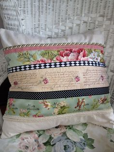All About Paris French Country Pillow/Cover
