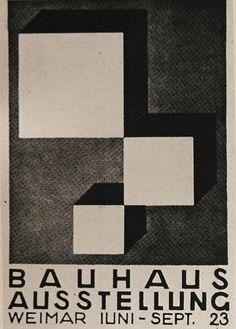 Bauhaus Exhibition Weimar, poster, 1923.