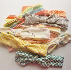 Infant Girl / Toddler Headband - Surprise Set - 3 Pack  - Organic Cotton Knit - Stretchy Headband