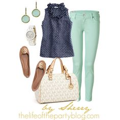 Navy and Mint