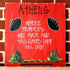 College Tailgating Signs- Athens UGA