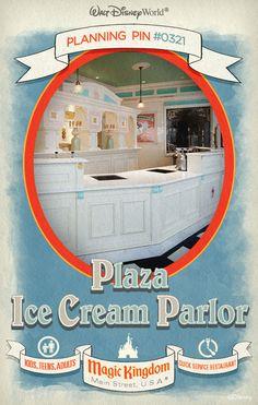 Walt Disney World Planning Pins: Plaza Ice Cream Parlor