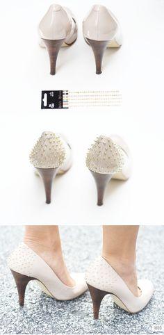 DIY Studded Heels