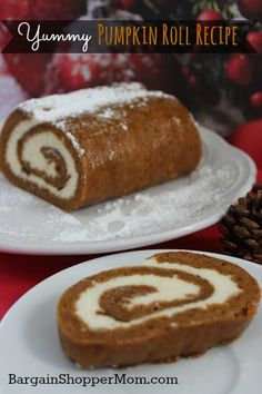 Pumpkin Roll Recipe - Yummy fall treat and great for Thanksgiving dinner