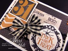 """My Sheri CARDS: The Stamp Simply Ribbon Store - """"Trick or Treat"""""""