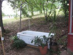 bathtub fountain, outdoor craft, craft idea, child crafts