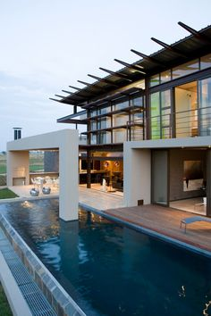 A South African #Villa with Earthy Textures & Rich Finishes > beautiful outdoor area and use of materials