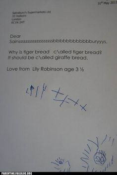 Click this to read the response. So cute.