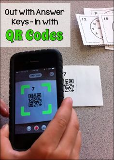 Out with Answer Keys - In with QR Codes! Learn how QR codes can solve the answer key problem. Download a free set of 24 telling time task cards to try this technique yourself!