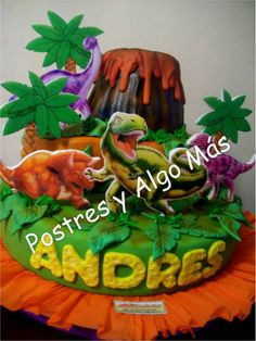 Torta de Dinosaurios - Dinosaurs Cake