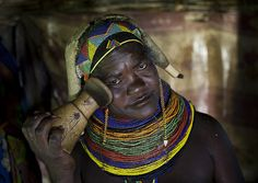 """This is how i sleep"" Mumuhuila headrest - Angola by Eric Lafforgue, via Flickr"