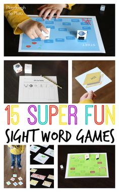 15 easy prep printable sight word games. Fun way to practice sight words, spelling words... even math facts!