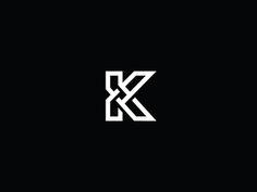graphic, ident, letter, logo k, georg bokhua, inspir, brand, k logo, design
