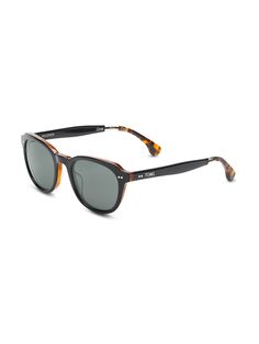#TOMSeyewear polarized Rooper sunglasses in Black Honey.