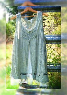 Altered, refashioned blouse, lagenlook layering blouse, natural kei mori girl, bohemian, girly, gypsy, hippie chic, farmgirl romance. $39.56, via Etsy.