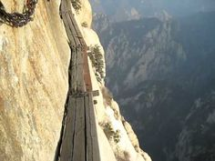 To walk the plank of death in Mt. Huashan near Xi'an in China and to reach at least one of the 5 heavenly mountain peaks.