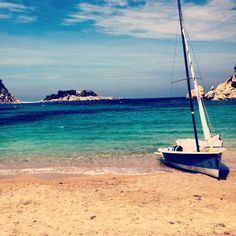 The clear blue waters of Ibiza, Spain