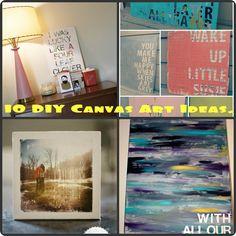 10 DIY Canvas Art Ideas.