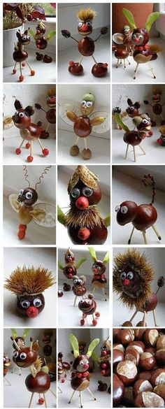 chestnut, idea, craft, autumn, art, kids, herfst, knutselen, diy