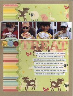 Ideas for using Juvenile Print Patterns on Scrapbook Layouts | Celeste Smith | Get It Scrapped