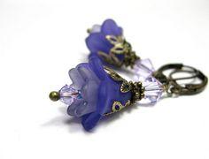 Deep Purple Frost Flower Earrings from jewelry by NaLa