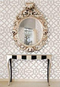 Moroccan Stencil Zamira...beautiful mirror & wall stencil