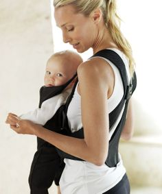 Black Active Mesh Baby Carrier - great baby shower gift idea.
