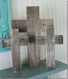 Simple barn wood crosses with kick stand.  See post for pick of kick stand.