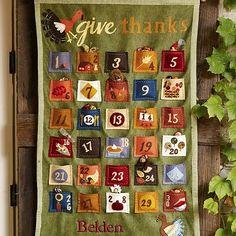 thanksgiv countdown, countdown calendar, advent calendars, fall, holidays, barns, thanksgiving, pottery barn, kid
