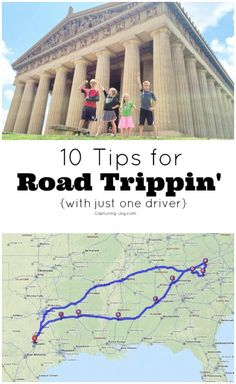 10 Tips for Road Trippin' with just one driver - plan ahead when you're driving alone with kids! KristenDuke.com