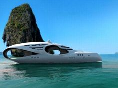 fish shaped yacht
