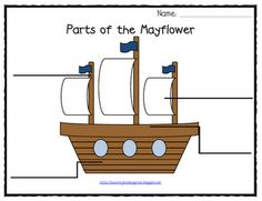 Lil' Country Kindergarten: Mayflower Labeling Printable