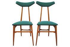 Scandanavian Midcentury Chairs, Pair