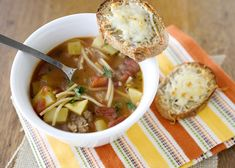 Minestrone Soup -  I will sometimes make this early in the day when everyone is at school, and just reheat it when it is time for dinner.  The longer it sits, the better it tastes. #potatoes #soup