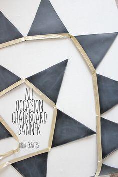 DIY All-Occasion Chalkboard Banner. LOVE.