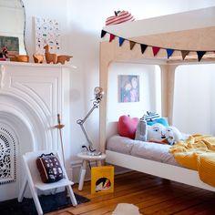 Perch Bunk Bed in White & Birch