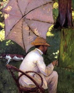 The Painter under His Parasol, 1878 Gustave Caillebotte