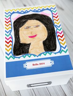 How to create a memory box with your child's art work