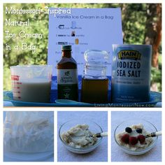 July is National Ice Cream Month! You'll find directions here for a natural ice cream in a bag (dairy or vegan) that even preschoolers can prepare. The post includes a free printable recipe page for kids.