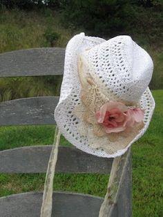 Shabby Chic Straw Hat