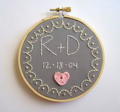 embroidered wedding gift
